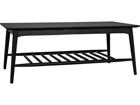 Noir Furniture Charcoal Black 47'' Wide Rectangular Coffee Table