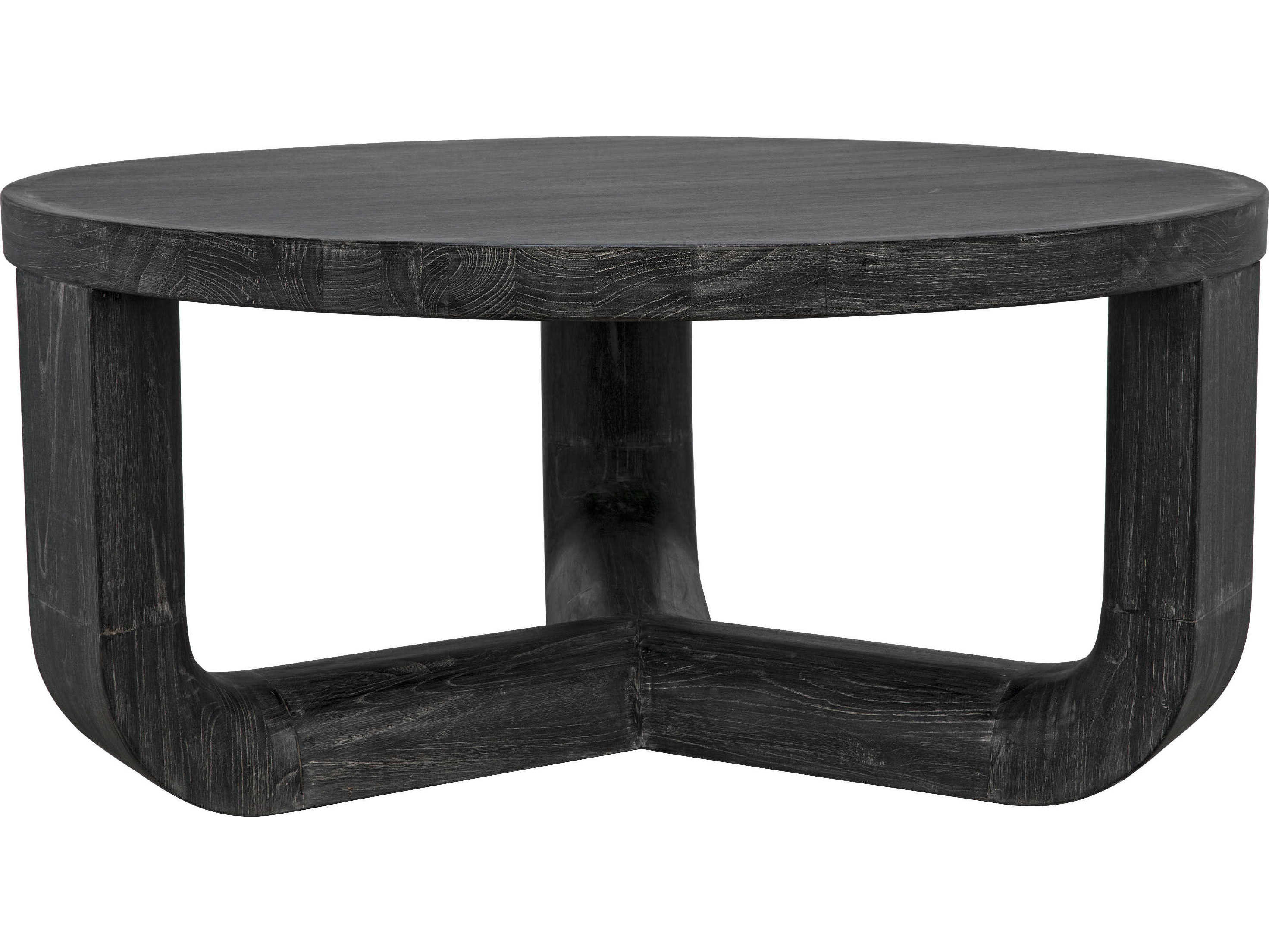 Noir Furniture 40 Wide Round Coffee Table Noiaf43