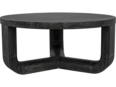 Noir Furniture Natural 40'' Wide Round Coffee Table