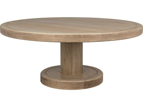 Noir Furniture Washed Walnut 48'' Wide Round Coffee Table