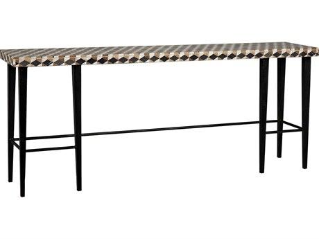 Noir Furniture Antique Brass 72'' Wide Rectangular Console Table
