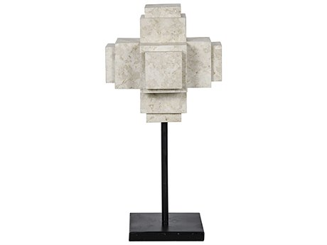 Noir Furniture White Marble Cube On Stand NOIAM142WM