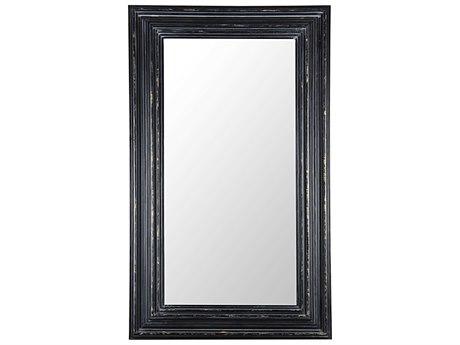 Howard Elliott Albert 21 Round Black Wall Mirror He56010