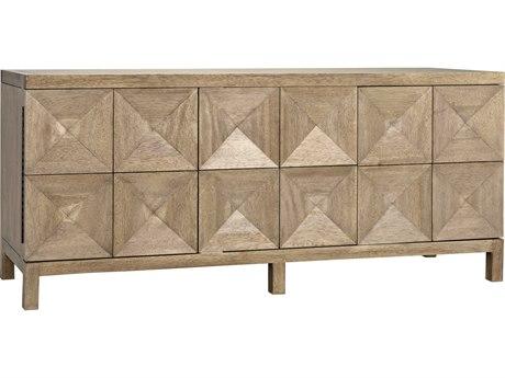 Noir Furniture Quadrant Washed Walnut Three-Door 76'' x 23'' Sideboard NOIGCON231WAW3