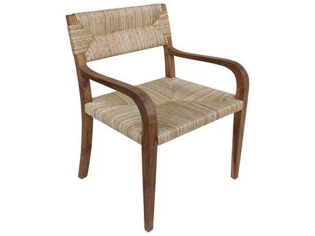 Noir Furniture Bowie Teak Dining Arm Chair NOIGCHA213T