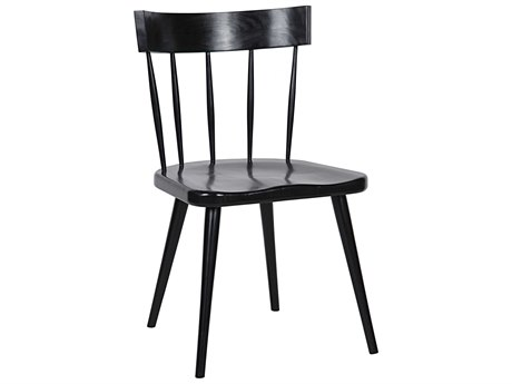 Noir Furniture Esme Hand Rubbed Black Dining Side Chair NOIGCHA257HB