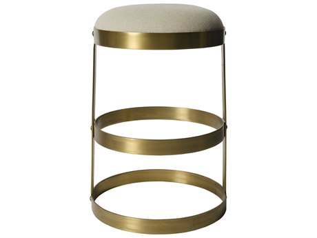 Noir Furniture Dior Antique Brass Counter Stool NOIGSTOOL118MBS