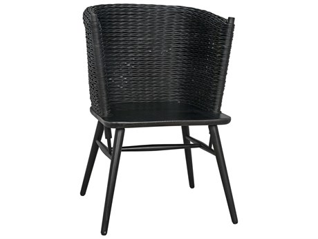 Noir Furniture Charcoal Black Arm Dining Chair