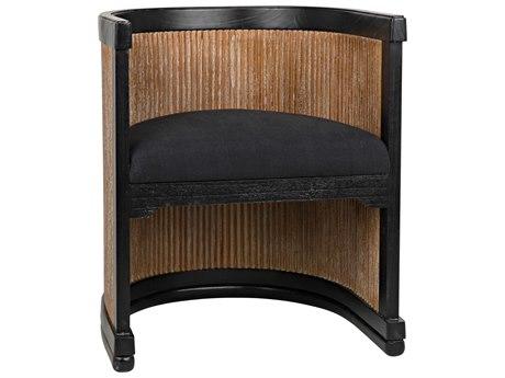 Noir Furniture Antique Silver Arm Dining Chair