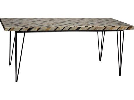 Noir Furniture Nestor Onyx 72'' x 32'' Rectangular Dining Table NOIAI96