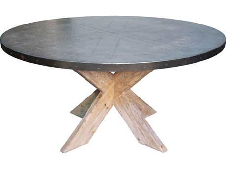 Noir Furniture Charcoal 60'' Wide Round Dining Table