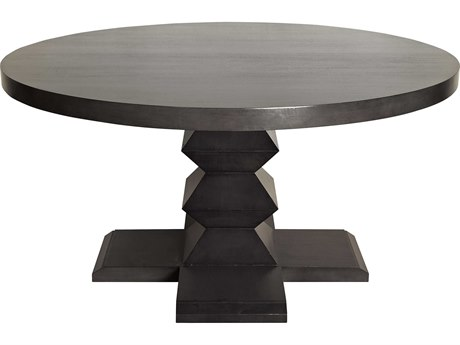 Noir Furniture Zig-Zag Pale 60'' Round Dining Table