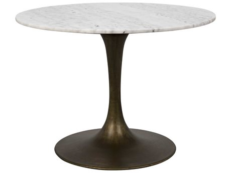 Noir Furniture Aged Brass 40'' Wide Round Dining Table NOIGTAB530AB40