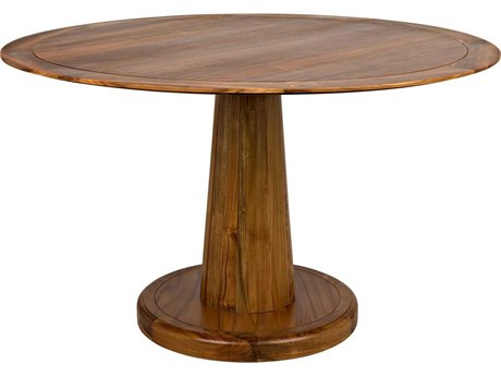 Noir Furniture Hand Rubbed Black 50'' Wide Round Dining Table