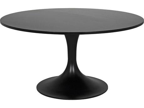 Noir Furniture Black Metal 59'' Wide Round Dining Table NOIGTAB539MTB