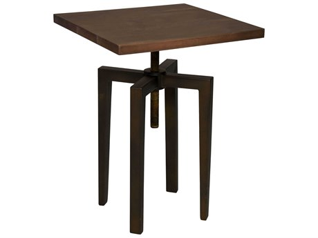 Noir Furniture Dark Walnut 20'' Wide Square Counter Height Dining Table NOIGTAB644MTB