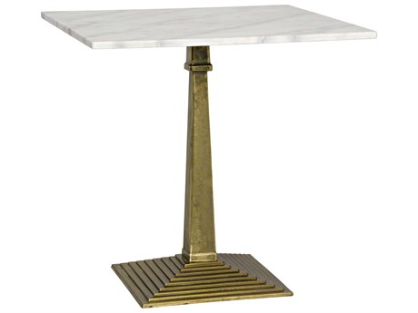 Noir Furniture Fadim Antique Brass 30'' Square Dining Table NOIGTAB781MB