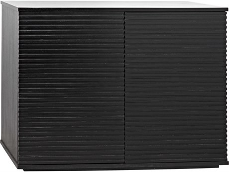 Noir Furniture Smith Hand Rubbed Black Two-Door 40'' x 22'' Sideboard NOIGCON273HB2