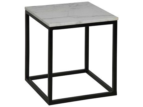 Noir Furniture Hand Rubbed Black 16'' Wide Square End Table
