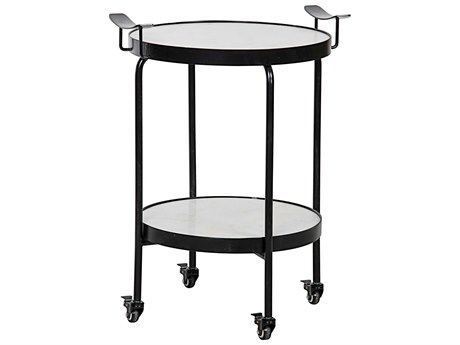 Noir Furniture Hand Rubbed Black 23'' Wide Round End Table