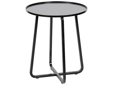Noir Furniture Antique Brass 20'' Wide Round End Table