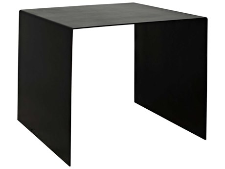 Noir Furniture Antique Silver 24'' Wide Square End Table