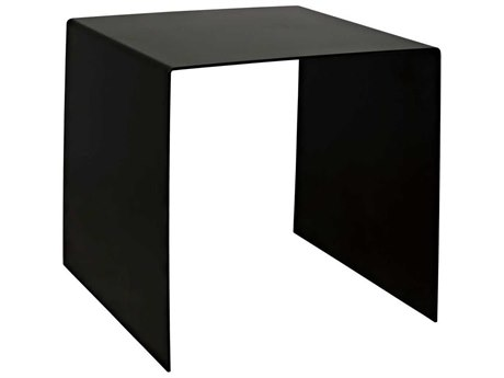 Noir Furniture Antique Silver 20'' Wide Square End Table