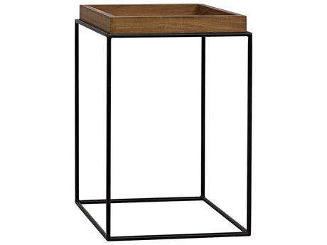 Noir Furniture Gold Teak 16'' Wide Square End Table