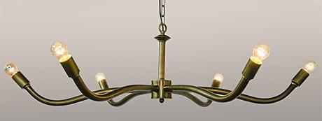 Noir Furniture Sprinkle Antique Brass Six-Light 44.5'' Wide Chandelier NOILAMP396MB