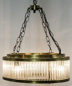 Noir Furniture Petronas Antique Brass Four-Light 20.5'' Wide Pendant Light