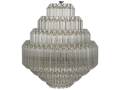 Noir Furniture Palazzo Antique Brass Eight-Light 25'' Wide Small Pendant Light
