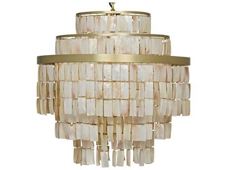 Noir Furniture Winoda Antique Brass Six-Light 24'' Wide Pendant Light
