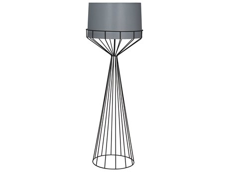 Arteriors Home Nathan White Gesso Iron Floor Lamp