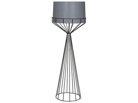 Noir Furniture Matte Black Floor Lamp NOILAMP720BMTB