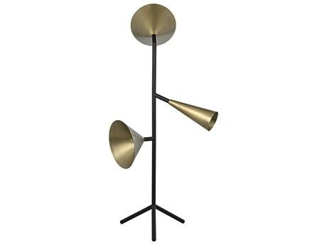 Noir Furniture Antique Brass Floor Lamp NOILAMP728MTB