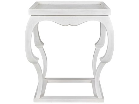 Noir Furniture White Wash 24'' Wide Square Foyer Table NOIGTAB326WH