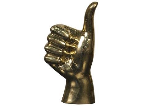 Noir Furniture Brass Thumbs Up Sculpture