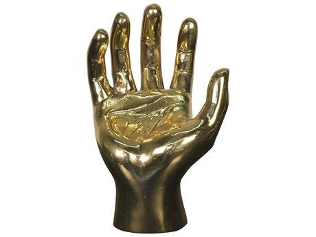 Noir Furniture Brass Palms Up Sculpture