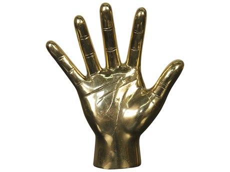 Noir Furniture Brass Open Hand Sculputure