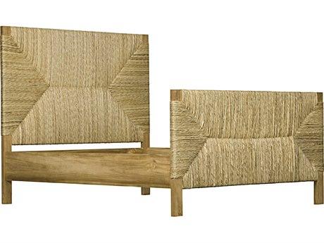 Noir Furniture Holden Teak / Rush Queen Panel Bed