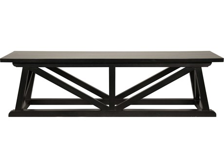Noir Furniture Sutton Hand Rubbed Black Bench NOIGBEN108HB