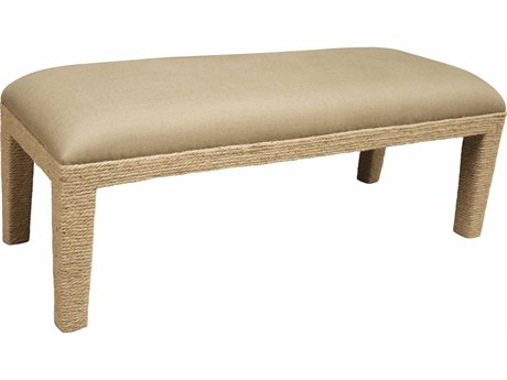 Noir Furniture Rope Dark Linen Bench