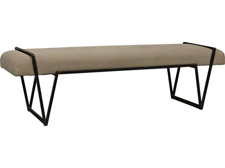 Noir Furniture Larkin Metal with Linen Bench NOIGBEN137MT