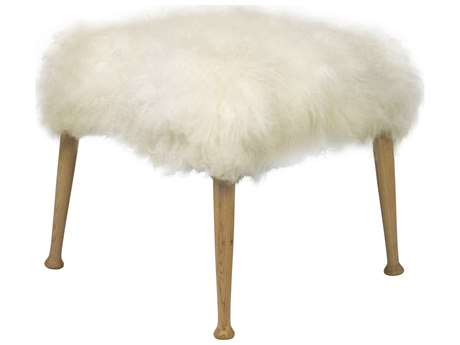 Noir Furniture Living Room Accents Waxed / Flokati Accent Stool NOIGSTOOL139