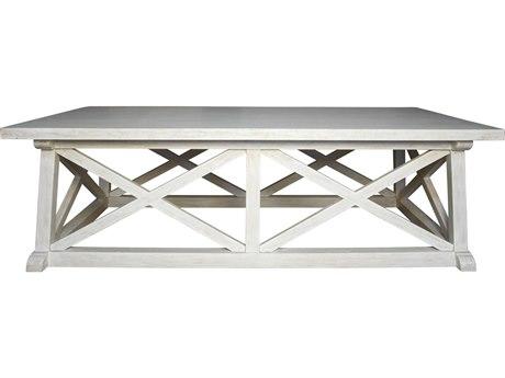 Noir Furniture Sutton White Wash 60'' x 34'' Rectangular Coffee Table NOIGTAB121WH