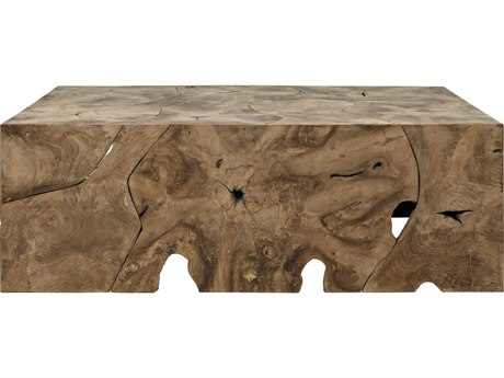 Noir Furniture Vert Teak 47.5'' x 31.5'' Rectangular Coffee Table NOIGTAB174