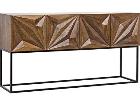 Noir Furniture Zurich Dark Walnut 60'' x 19'' Rectangular Console Table NOIGCON262DW