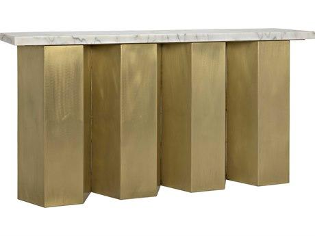 Noir Furniture Shilo Antique Brass 64'' x 15'' Rectangular Console Table