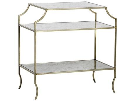 Noir Furniture Forli Antique Brass 30'' x 18.5'' Rectangular Console Table