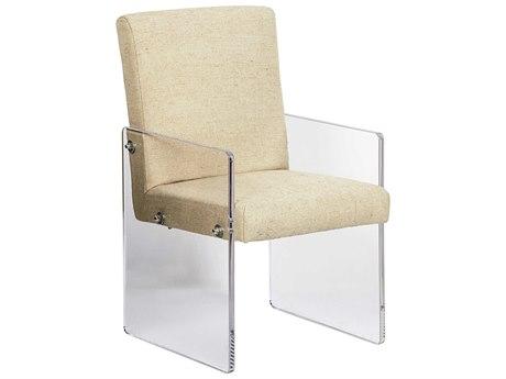 Noir Furniture Clarice Acrylic&Linen Dining Arm Chair NOIGCHA262